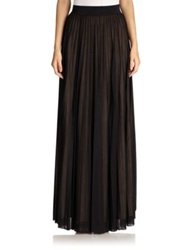 Abs By Allen Schwartz Sunburst Pleated Long Skirt Black