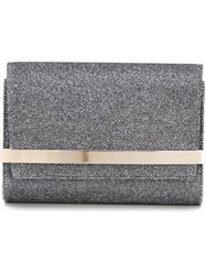 Jimmy Choo 'Bow' Clutch Grey