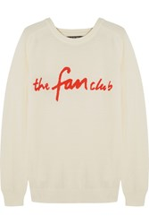 Sibling The Fan Club Merino Wool Sweater White