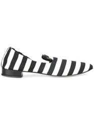 Repetto Striped Loafers Black