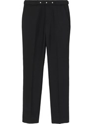 Burberry Classic Fit Triple Stud Wool Mohair Tailored Trousers Black
