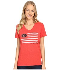 Life Is Good Flag Short Sleeve Tee Red Women's T Shirt