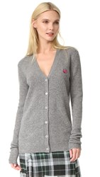 Mcq By Alexander Mcqueen Swallow Cardigan Grey