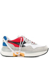 Diadora Contrasting Panel Sneakers White