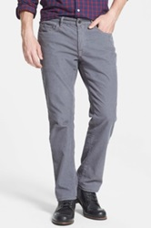 Bonobos Straight Leg Five Pocket Corduroy Pants Gray