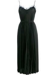 Vince Pleated Slip Dress Black
