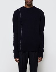Raf Simons Regular Fit Knitted Roundneck Dark Navy