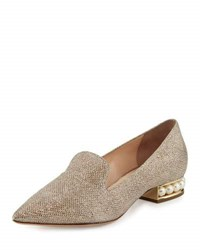 Nicholas Kirkwood Casati Pearly Suede Loafer Champagne
