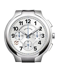 Philip Stein Teslar Philip Stein Chronograph Round Stainless Steel Watch Head 45Mm Silver