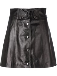 Red Valentino Mini Leather Skirt Black