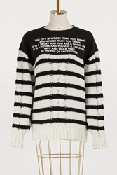 Each X Other Striped Sweater Black And White
