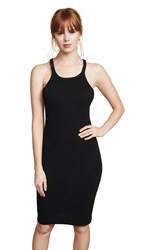 Re Done Ribbed Tank Dress Black