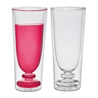 Bitossi Home Double Walled Cocktail Glasses Set Of 2 Flute