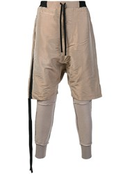 Unravel Project Short Like Trousers Nude And Neutrals