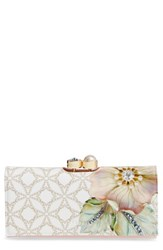 Ted Baker Women's London Gem Gardens Matinee Wallet Beige Ecru