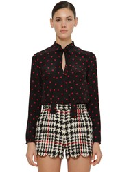 Red Valentino Printed Crepe De Chine Blouse W Bow Array 0X576ac10