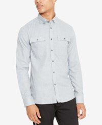Kenneth Cole Reaction Men's Performance Flannel Shirt Heather Grey