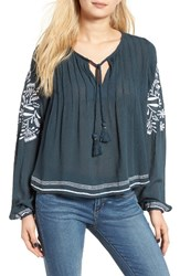 Tularosa Women's Embroidered Peasant Top