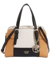 Guess Huntley Small Cali Satchel Black Multi
