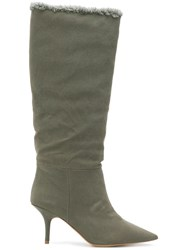 Yeezy Pointed Toe Boots Green