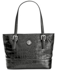 Giani Bernini Croc Embossed Tote Only At Macy's Black