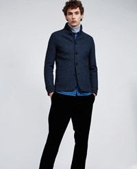 Aspesi Boiled Wool Jacket Avio Grey Melange