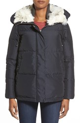 Women's Bernardo Hooded Down And Feather Fill Parka With Faux Fur Trim
