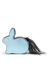 Hillier Bartley Bunny Leather And Suede Clutch Black Multi