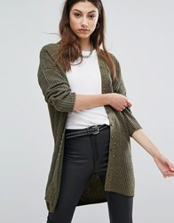 Noisy May Open Cardigan Black