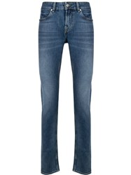 7 For All Mankind Mid Rise Straight Leg Jeans 60