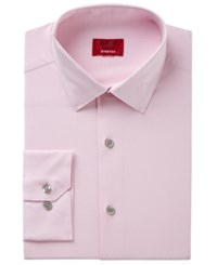Alfani Men's Slim Fit Performance Stretch Easy Care Pattern Dress Shirt Created For Macy's Pink