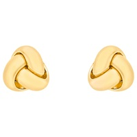 Ibb 18Ct Yellow Gold Knot Stud Earrings Yellow Gold