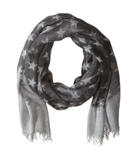 John Varvatos Star Print Flat Grey Scarves Gray