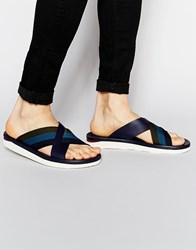 Paul Smith Jeans Gain Cross Over Sandals Blue