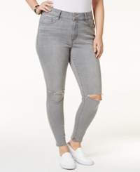 American Rag Trendy Plus Size Sierra Wash Ripped Skinny Jeans Only At Macy's
