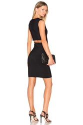 Alexander Wang Rib Knit V Neck Dress Black