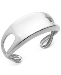 Nambe Wide Cuff Sculptural Cuff Bracelet In Sterling Silver Only At Macy's