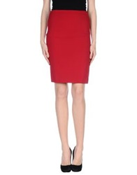 Tru Trussardi Knee Length Skirts Brick Red