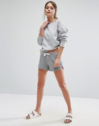 New Look Contrast Runner Shorts Mid Grey