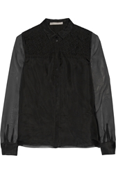 Jason Wu Lace Trimmed Silk Organza Shirt