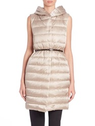 Max Mara Cube Collection Gileta Quilted Puffer Vest Beige