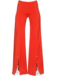 Thierry Mugler Flared Viscose Stretch Cady Pants