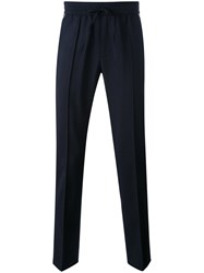 Vince Contrast Piping Jogging Trousers Men Wool M Blue