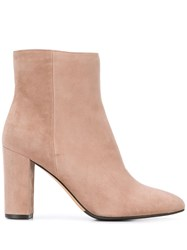 The Seller Block Heel Ankle Boots Pink