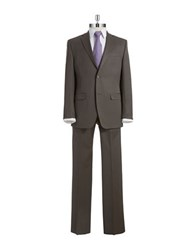 Lauren Ralph Lauren Regular Fit Solid Wool Blend Suit Taupe