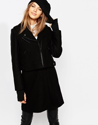 Eleven Paris Wool Coat With Removable Gilet Black
