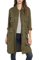 Bb Dakota Women's Averie Drawstring Waist Army Coat Sage