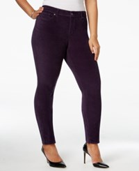Styleandco. Style Co. Plus Size Velvet Skinny Pants Only At Macy's Dark Grape