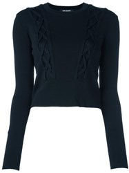 Neil Barrett Cable Knitted Jumper Black