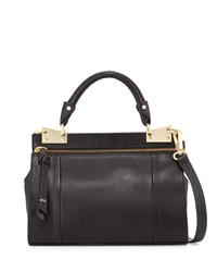 Foley Corinna Dione Mini Leather Messenger Bag Black